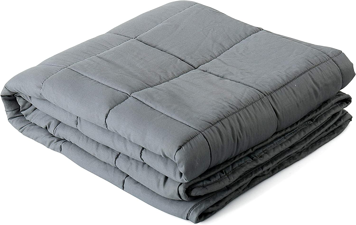 Reafort Cotton Material Shell Weighted Blanket, Heavy Blanket for Adult (Dark Grey, 60 x80  20Lbs)