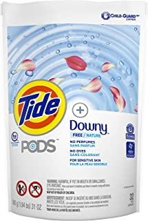 Tide Pods Pods +Downy Free, Liquid Laundry Detergent Pacs, 32 count
