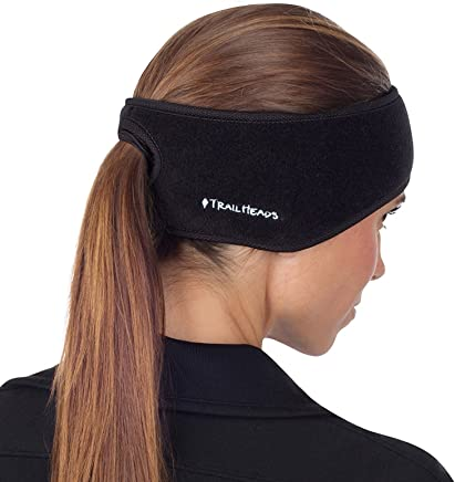 TrailHeads Women's Ponytail Headband | Fleece Earband | Winter Running Headband