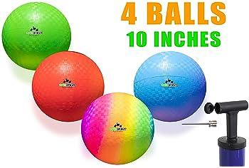 Playground Balls 10 inch Dodgeball - Kickball for Boys Girls Kids Adults - Official Size Bouncy Dodge Ball, Handball,...