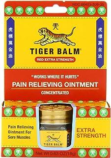 Tiger Balm - ungüento - 0,63 oz de alivio del dolor adicional de la fuerza. Antes rojo