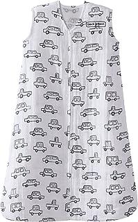 Halo 100% Cotton Muslin Sleepsack Wearable Blanket, Navy Cars, Small