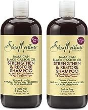 Shea Moisture Jamaican Black Castor Oil Strengthen & Restore Shampoo, 16.3 Oz, Pack of 2