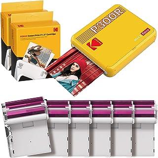 "Kodak Mini 3 Retro Portable Photo Printer, Compatible with iOS, Android & Bluetooth Device, Real Photo (3""x3""), 4Pass Tech..."