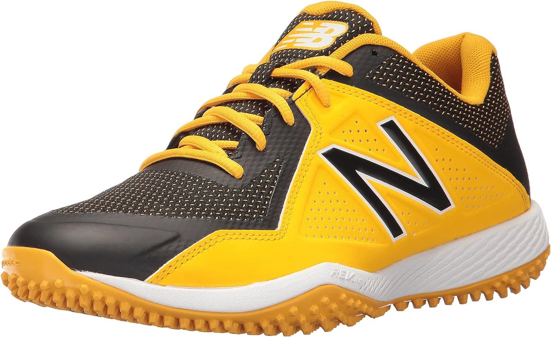 New Balance Men's T4040v4 Turf Baseball schuhe, schuhe, schuhe, schwarz Gelb, 6 2E US 312