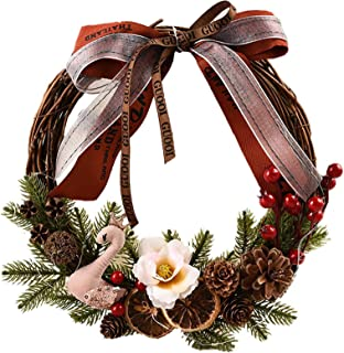 人工ガーランド装飾クリスマス杖サークルガーランドペンダントショッピングモール装飾小道具ドアと窓の壁掛けペンダントクリスマス要素ガーランド感謝祭