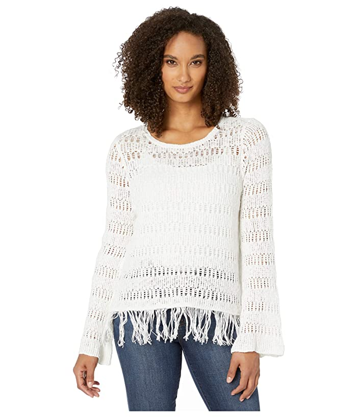 Wrangler  Western Sweater with Fringe (Natural) Womens Clothing