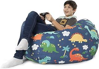 BANBALOO- Pouf XL sac pour garder des jouets mous – Sac-coffre pour coussins et couvertures convertible en fauteuil pour e...