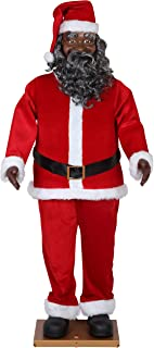life size black santa claus