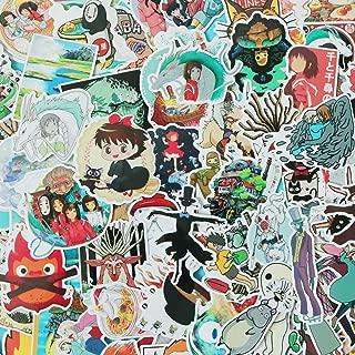 100 PCS Cartoon Japan Miyazaki Hayao Anime Waterproof Stickers Car Laptop Helmet Luggage Vintage Skateboard Wall Decor Gift for Kids (Japan Anime)