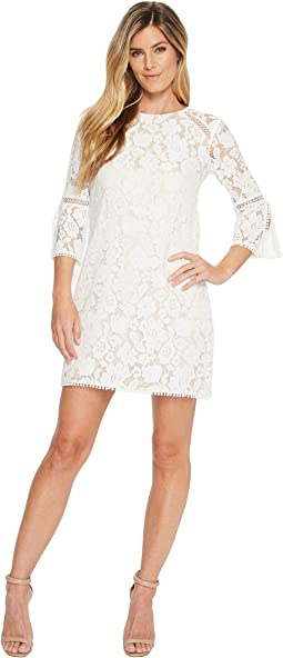 Vince Camuto - Lace T Body Shift Dress with 3/4 Sleeve