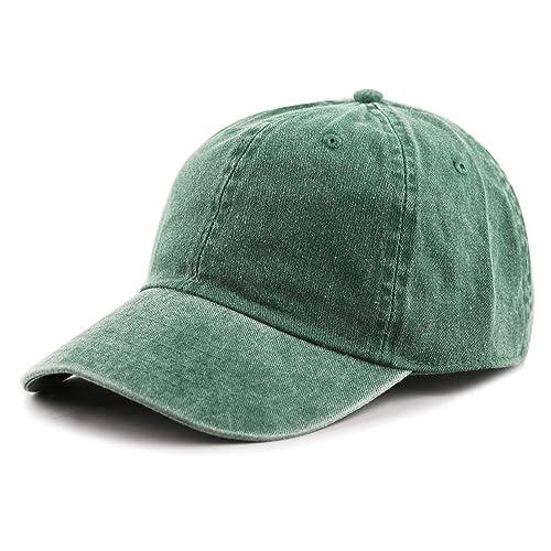 917817438e3 THE HAT DEPOT 100% Cotton Pigment Dyed Low Profile Six Panel Cap Hat