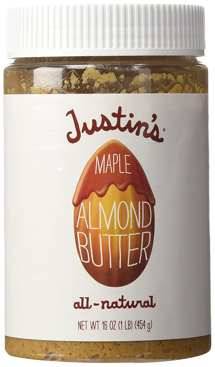 Justin's Nut Butter Natural Maple Almond trend rank Jar 16 ButterPlastic - Max 56% OFF