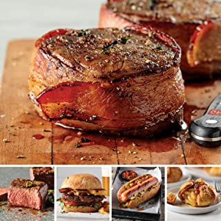 Omaha Steaks Special Combo (16-Piece with Bacon-Wrapped Filet Mignons, Top Sirloins, Steak Burgers, Jumbo Franks, and Caramel Apple Tartlets)
