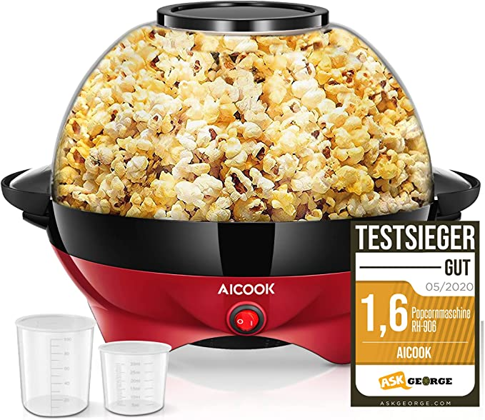 24 opinioni per Macchina Popcorn, 5L Macchina per Popcorn con Rivestimento con Antiaderente,