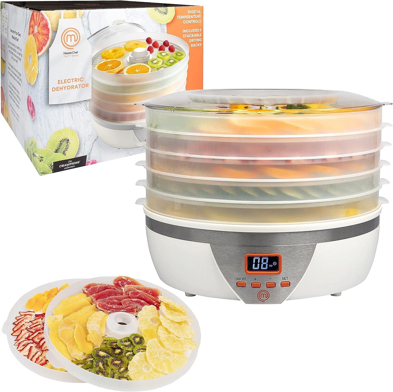 MasterChef Food Dehydrator w 5 Temperature Digital Trays Con New sales Minneapolis Mall and