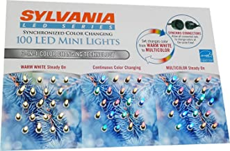 Sylvania 100-Count LED Mini Lights 3 in 1 Synchronized Color Changing
