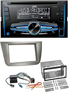 Kenwood DMX120BT AUX Bluetooth USB MP3 2DIN Autoradio f/ür Opel Corsa C Meriva Signum Vectra B 00-04 Charcoal