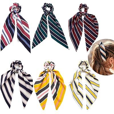 6 Pcs Hair Scrunchies for Women Bow Scrunchies ...