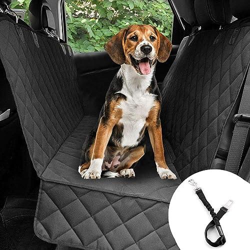 Bonve Pet Cubierta Asiento Coche Perro, Funda Coche Perro Mascota Impermeable, Alfombra de Asiento Coche Perro de Est...