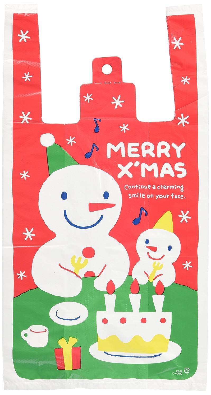 アルカイック擬人化哀手提げ袋 レジ袋 クリスマス スノーマン-M (100枚) XS-M