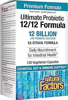 Natural Factors, Ultimate Probiotic 12/12 Formula, Supplement to Support Digestive & Immune Health, 12 Billion CFU, 120 Ca...
