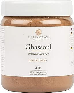 MARRAKESCH Ghassoul Lavaerde Pulver 400g | Original Marokkanische Tonerde als Gesichtsmaske für Gesichtsreinigung | Natürliches Peeling für Gesicht Haut und Haare | Wascherde als Körperpflege