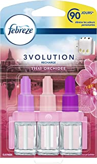 Febreze Recharges 3Volution pour Diffuseur Électrique, Thaï Orchidée, 1 recharge (3 flacons en 1) - 20ml
