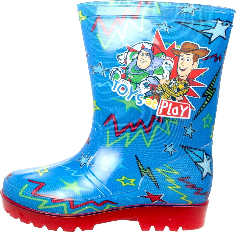 KIDS POKEMON BLUE WELLIES BOYS WELLINGTONS SPLASH RUBBER RAIN BOOTS SIZES 7-12