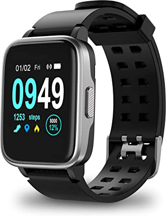 4b555be22f8136 Updated 2019 Version Smart Watch for Android iOS Phone, Activity Fitness  Tracker Watches Health Exercise