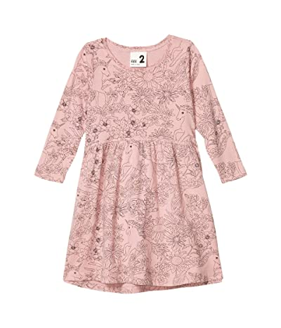 COTTON ON Freya Long Sleeve Dress (Little Kids) (Sweet Blush/Unicorns and Wildflowers) Girl