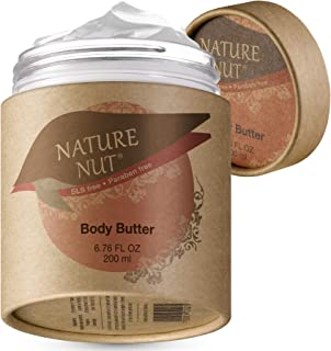Body Butter Cream Skin Moisturizer - Anti Aging Tightening and Firming Body Lotion for Dry Skin with 5 Nut Hydration Boost Skin Glow Formula