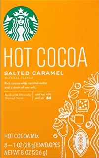 Starbucks Salted Caramel Hot Cocoa Mix, 1 Ounce Packets, 8 Count, Pack of 3