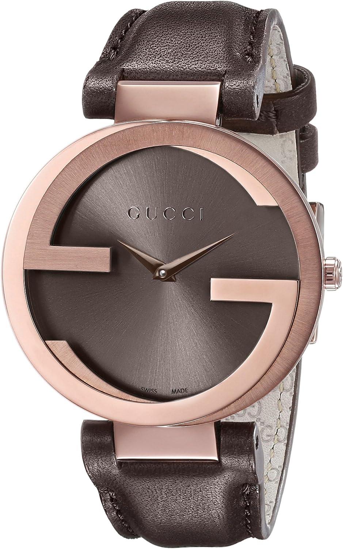 Gucci YA133309 - Reloj de Cuarzo para Mujer, con Correa de Cuero, Color marrón