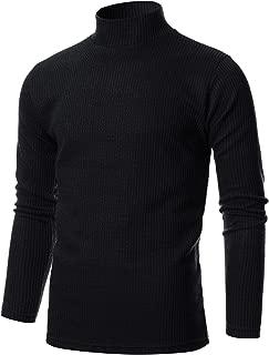 Mens Slim Fit Soft Blend Mock Neck Pullover Sweater