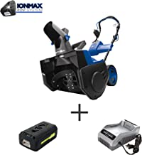 Snow Joe iON21SB-PRO 21-Inch 40 Volt 5 Ah Cordless Single Stage Snow Blower, Kit (w/5.0-Ah Battery + Quick Charger)
