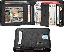 Chelmon Slim Mens Minimalist Wallet Money Clip RFID Blocking Bifold