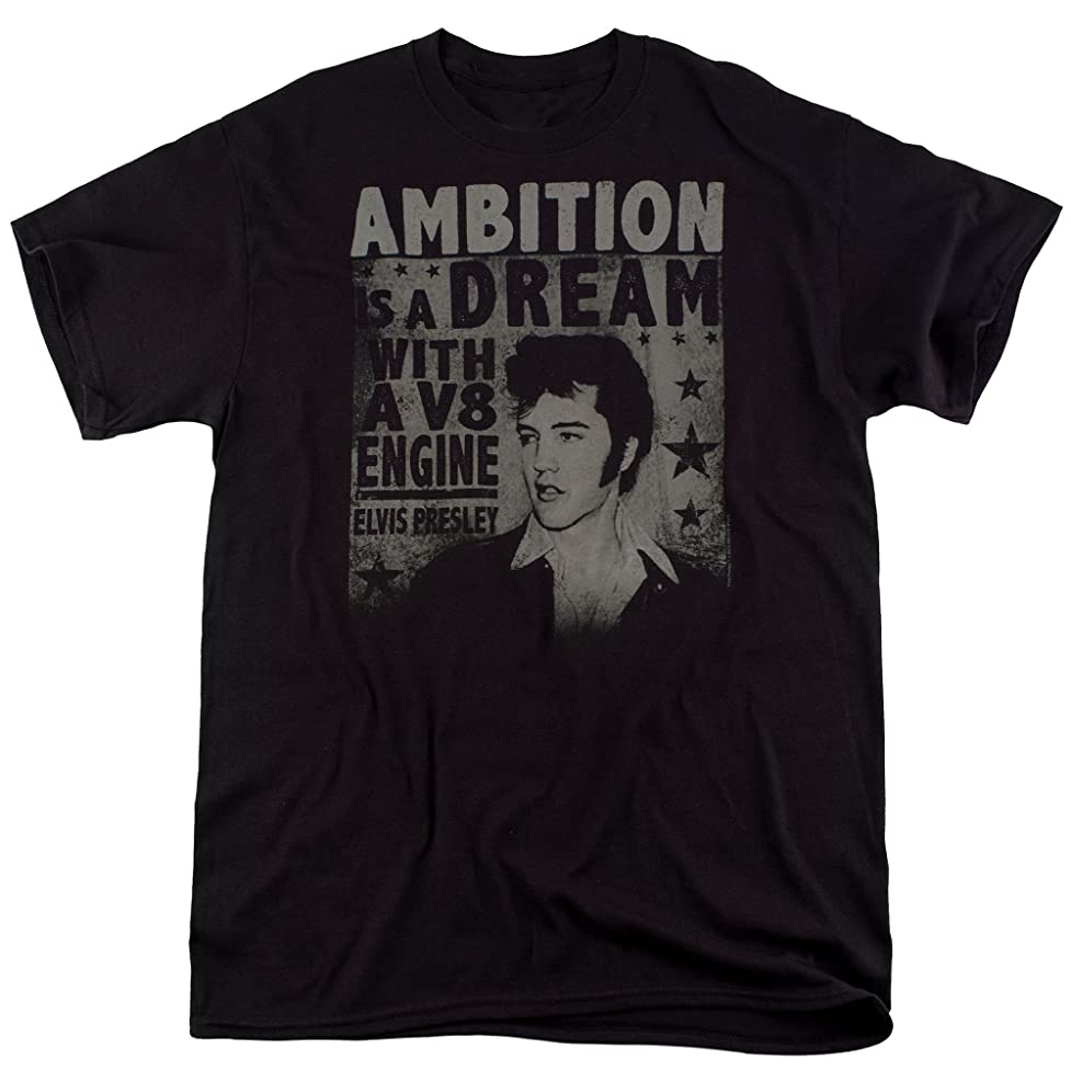 Elvis Presley Ambition is a Dream Quote Rock 'n' Roll T Shirt for Men and Women yoy931335849060