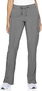 Smitten Women's Size Soft 4-Way Stretch Wrinkle Resistant Drawstring Scrub Pant, Heather Grey, Large Tall