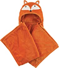 Hudson Baby Unisex Baby and Toddler Hooded Plush Blanket, Fox, One Size