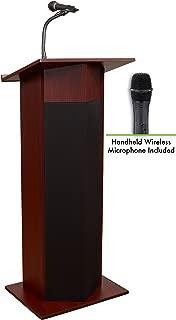 Oklahoma Sound 111PLS-MY/LWM-5 Power Plus Lectern and Wireless Mic, Mahogany