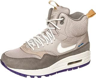 Nike WMNS AIR MAX 1 MID SNKRBT WOMENS Sneakers, MED OREWOOD BRN/FLAT PEWTER/COURT PURPLE/SAIL, 10 B(M) US