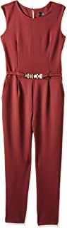 Mela London Jumpsuit for Women - Burgundy, Size 16 UK (ML2454A-MLTC)
