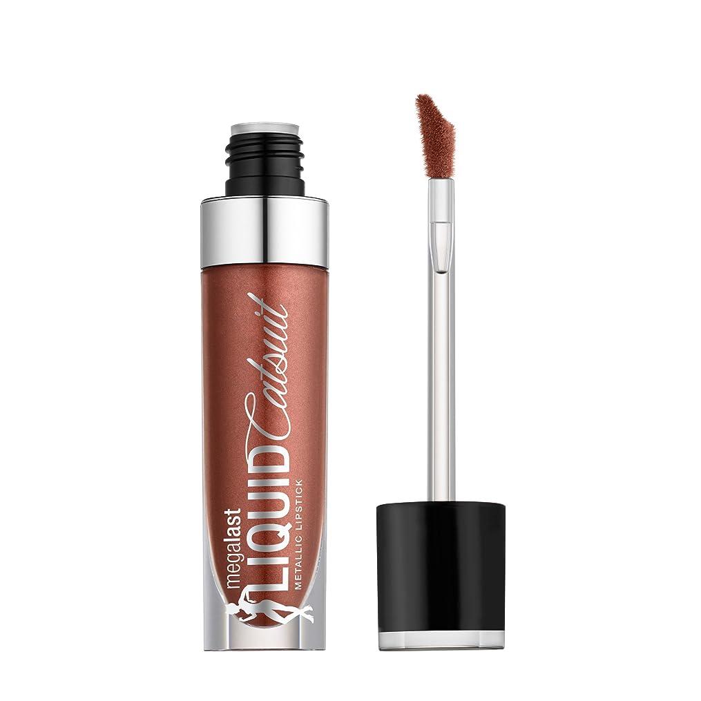 一人でポーター連結するWET N WILD Megalast Liquid Catsuit Metallic Lipstick - Ride On My Copper (並行輸入品)