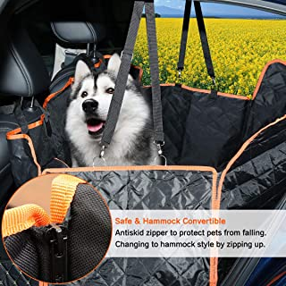 Dog Seat Cover for Car Seat Cover for Pets 100% Waterproof with Mesh Visual Window Hammock Scratchproof Nonslip Durable So...