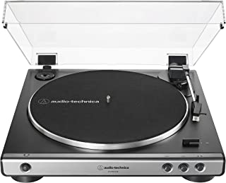 Audio-Technica at-LP60XUSB-GM Fully Automatic Belt-Drive Stereo Turntable (Analog & USB), Gunmetal, Hi-Fidelity, Plays 33 -1/3 and 45 RPM Records, Convert Vinyl to Digital (Renewed)