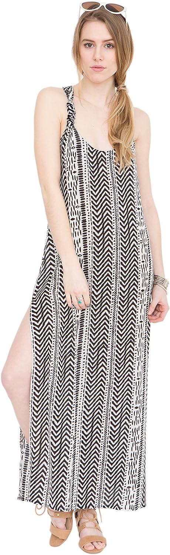 Likemary TBack Maxi Vest Dress Geo Print
