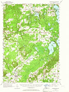 YellowMaps Thompsonville MI topo map, 1:62500 Scale, 15 X 15 Minute, Historical, 1956, Updated 1966, 20.8 x 16.9 in
