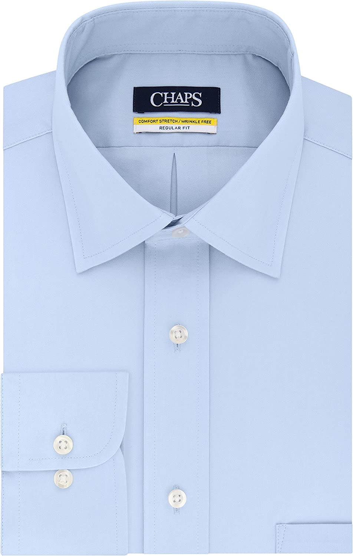 Chaps Men's Dress Shirt Regular Fit Stretch Solid