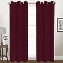 "United Curtain BLZ63BUR Window Curtain Panel Cou، 80"" x 63""، عنابي"
